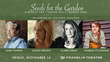 Seeds for the Garden - A Benefit for the Carter Hill Garden Park thumbnail